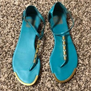 Turquoise Dolce Vita Sandals